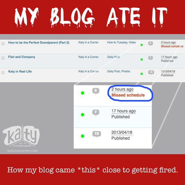 My Blog Ate It