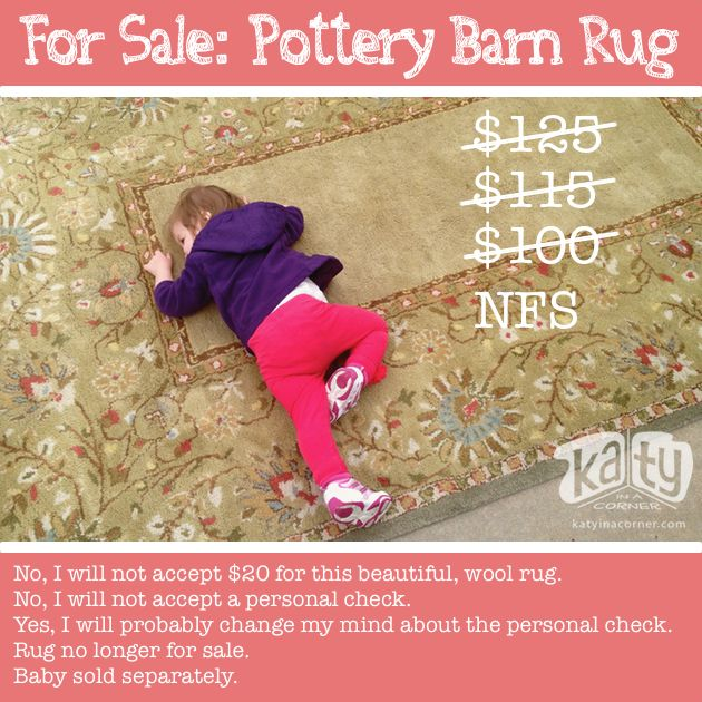 Seller's Remorse, Pottery Barn Rug