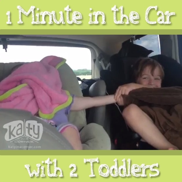 1 Minute in the Car with 2 Toddlers