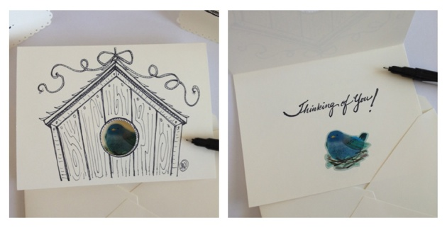 Hand Drawn Cards by Jess